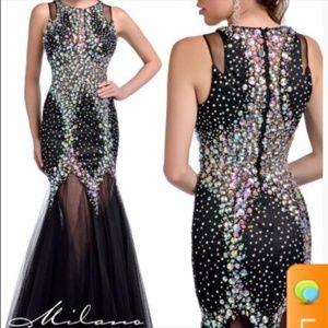 Black Short Formal Dresses Gems
